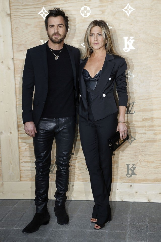 Jennifer Aniston and Justin Theroux Louis Vuitton