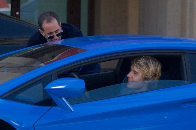 Justin Bieber Runs Into Jerry Seinfeld In His Lamborghini