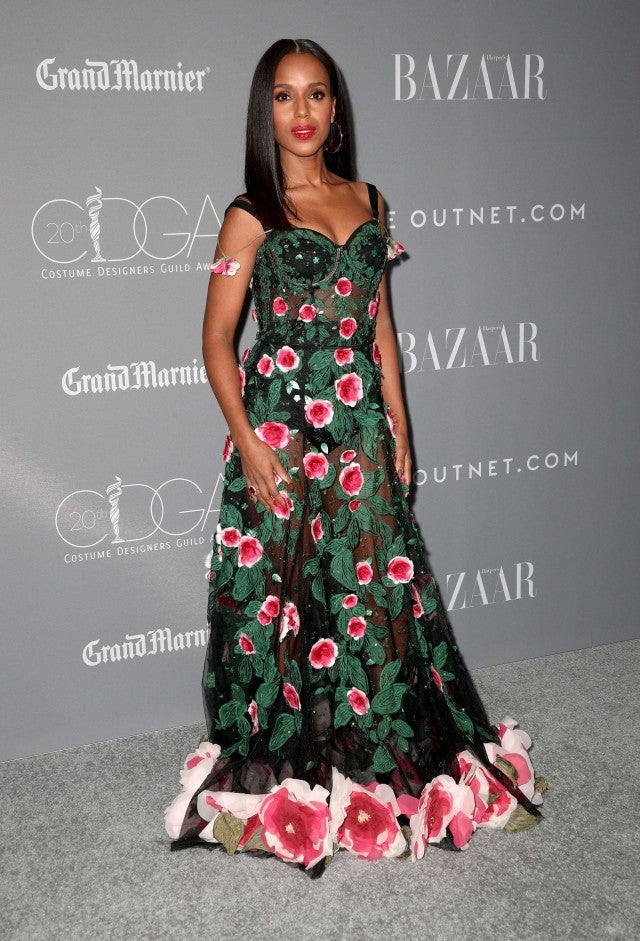 Kerry Washington on the red carpet at the Costume Designers Guild Awards on Feb. 20