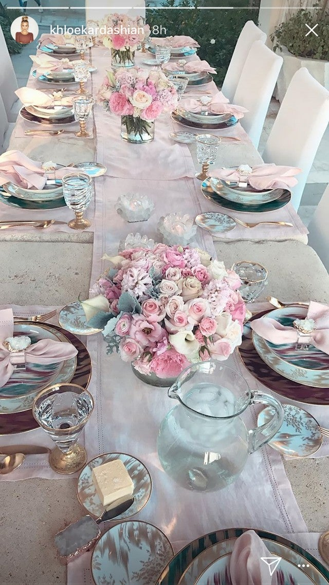 Khloe Kardashian Throws Family Dinner Party With Major