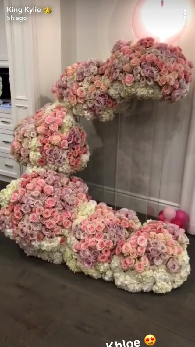 Kylie Jenner flowers