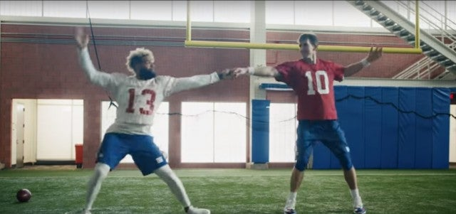 Odell Beckham Jr and Eli Manning NFL Commercial