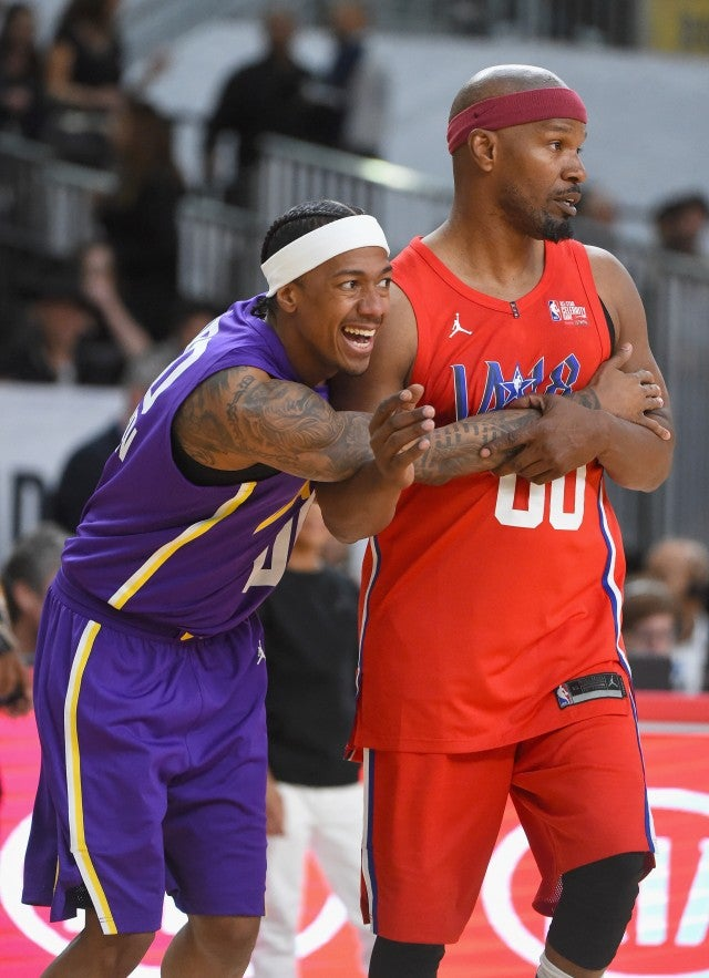 Nick Cannon Jamie Foxx NBA All Star Game