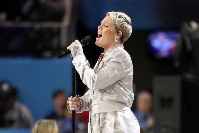 Pink at Super Bowl