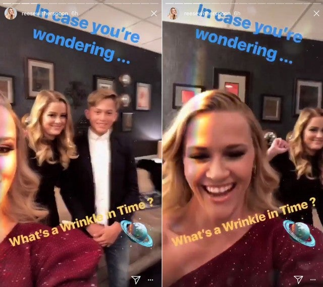 Reese and kids ahead of a wrinkle in time premiere