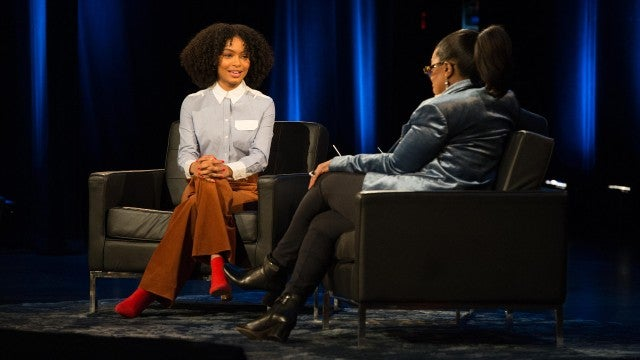 "Yara Shahidi talks with Oprah Winfrey at the Apollo Theater for  ""Oprah's Super Soul Conversations"""