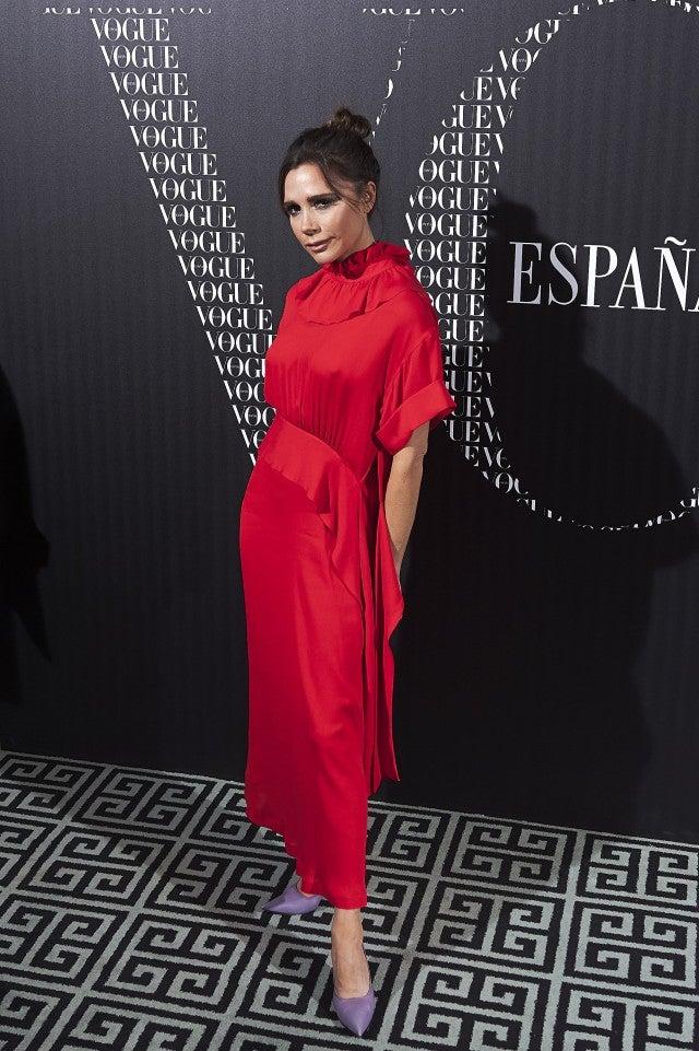 Victoria Beckham Vogue Espana Dinner