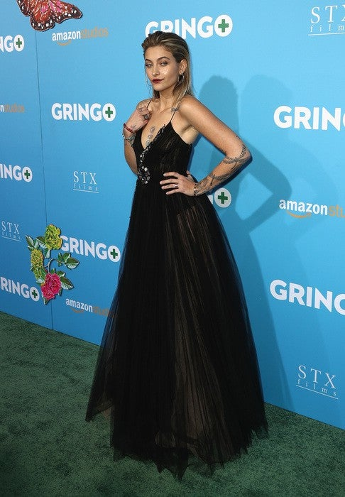 Actor Paris Jackson attends the world premiere of 'Gringo' from Amazon Studios and STX Films at Regal LA Live Stadium 14 on March 6, 2018 in Los Angeles, California