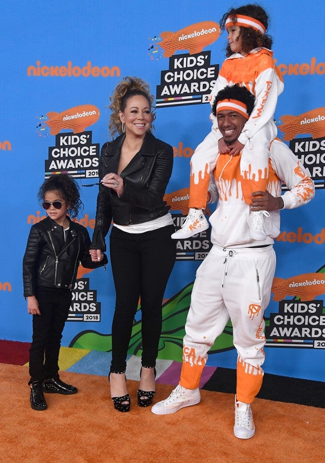 Mariah Carey and Nick Cannon at the 2018 Kids' Choice Awards