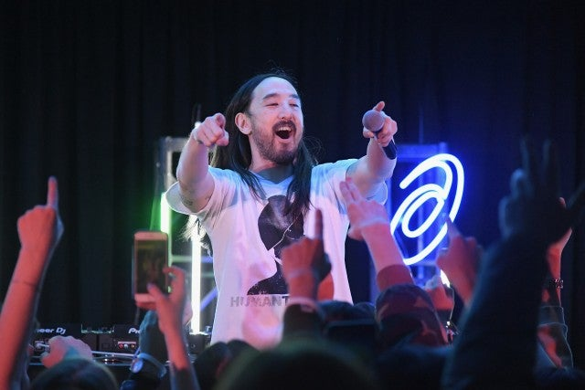 Steve Aoki at asics event