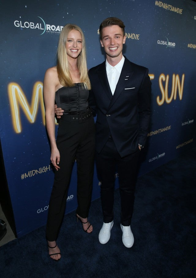 Abby Champion and Patrick Schwarzenegger at the 'Midnight Sun' premiere.
