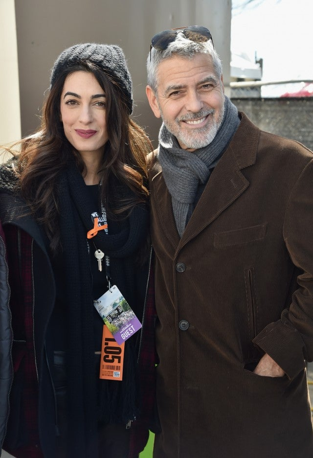 Amal and George Clooney at March For Our Lives