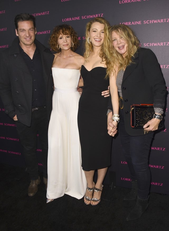 Bart Johnson, Robyn Lively, Blake Lively and Elaine Lively