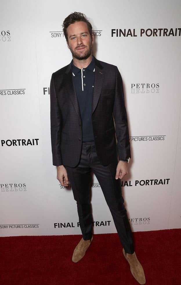 Armie Hammer at final portrait movie