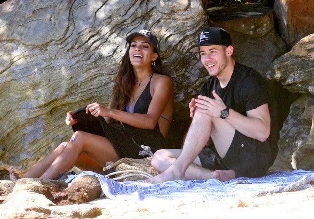 Nick Jonas and Annalisa Azaredo on a date in Australia on Feb. 28