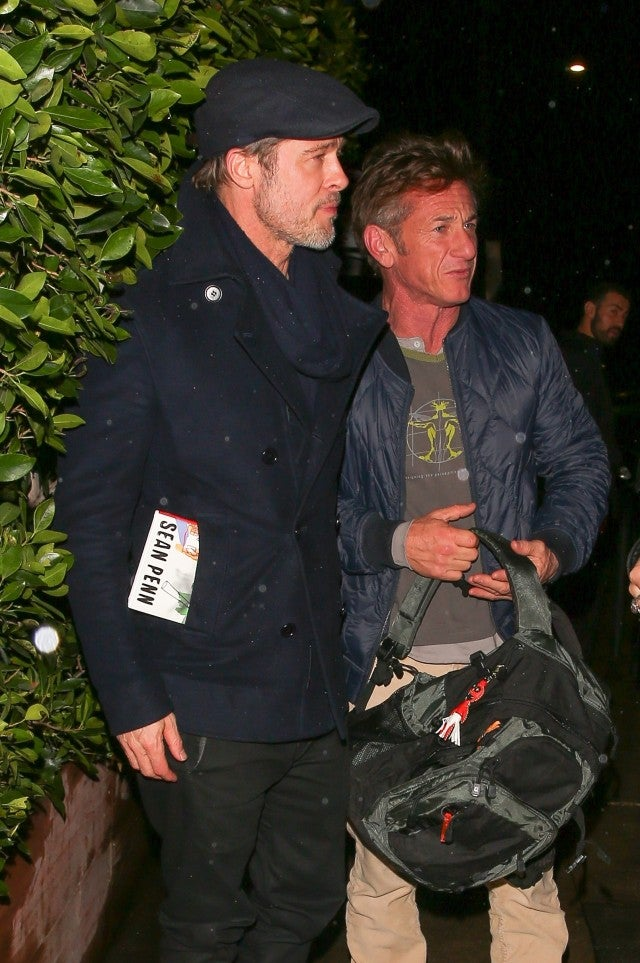 Brad Pitt Spotted At Dinner With Sean Penn And Bradley