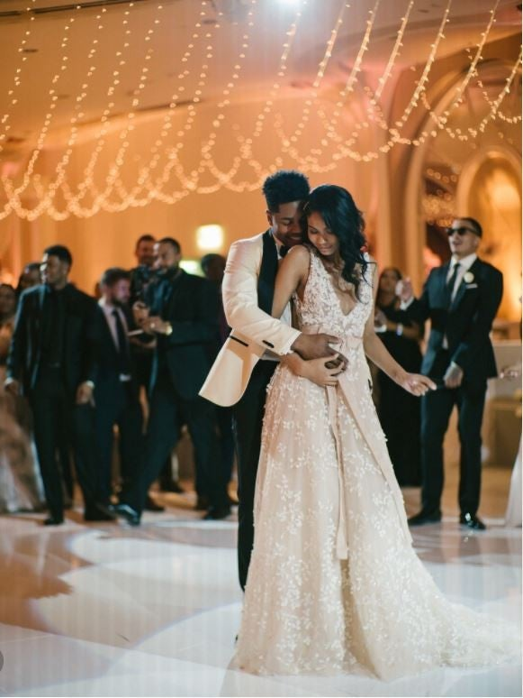 Chanel Iman and Sterling Shepard at their reception 2018