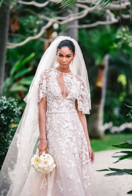 Chanel Iman in Zuhair Murad at her 2018 Wedding