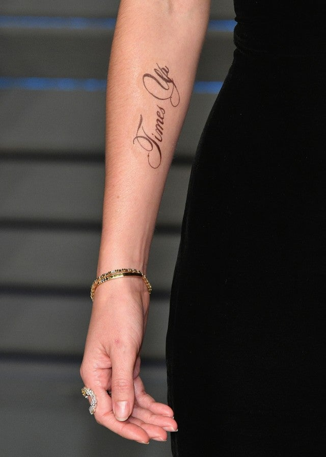 Emma Watson's Time's Up tattoo