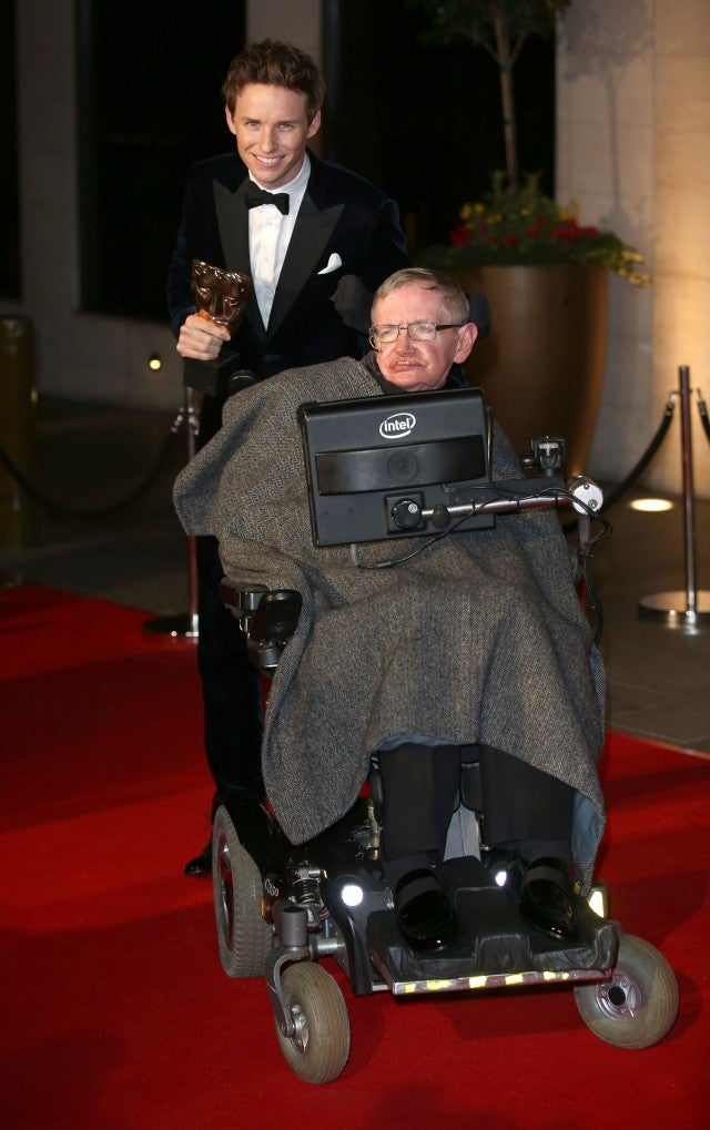 Eddie Redmayne Stephen Hawking EE British Academy Film Awards