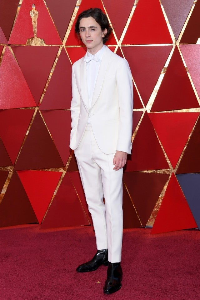 Timothee Chalamet at 2018 Oscars