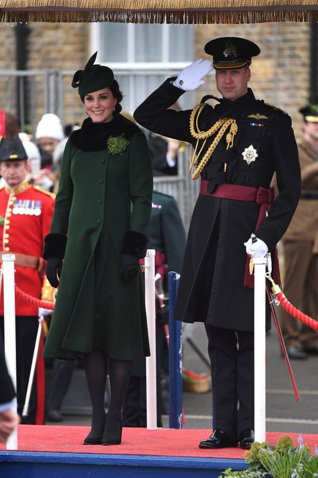 Pregnant Kate Middleton Stuns in Green at St. Patrick's Day Parade With Prince William