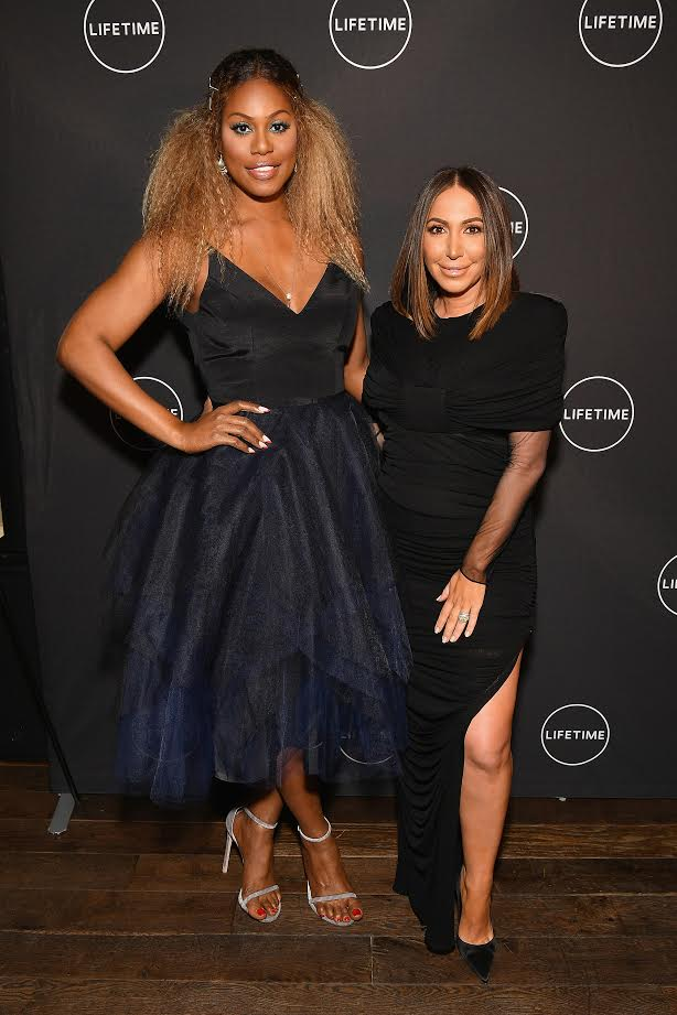 Laverne Cox at glam masters premiere