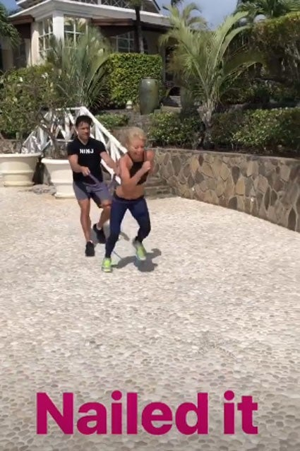 All Star Sprints >> Kelly Ripa Reveals Her Intense Workout With Mark Consuelos ...