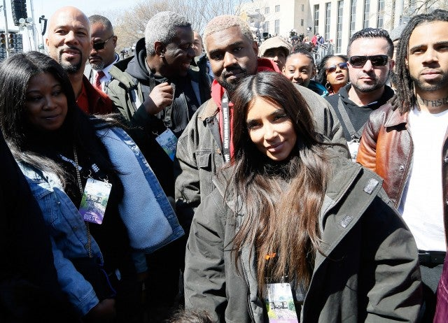 Kim Kardashian and Kanye West March For Our Lives