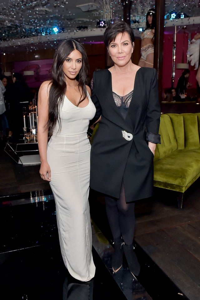 Kim Kardashian Sizzles In All White Look With Mom Kris
