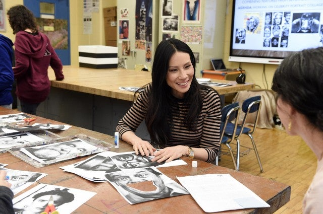 Lucy Liu at nyc public school
