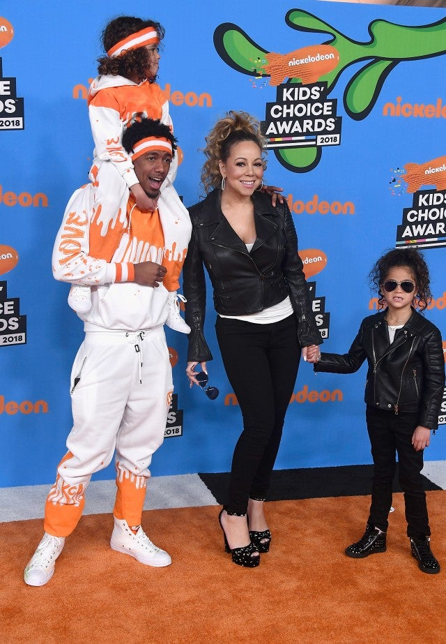 Mariah Carey, Nick Cannon, Monroe and Moroccan