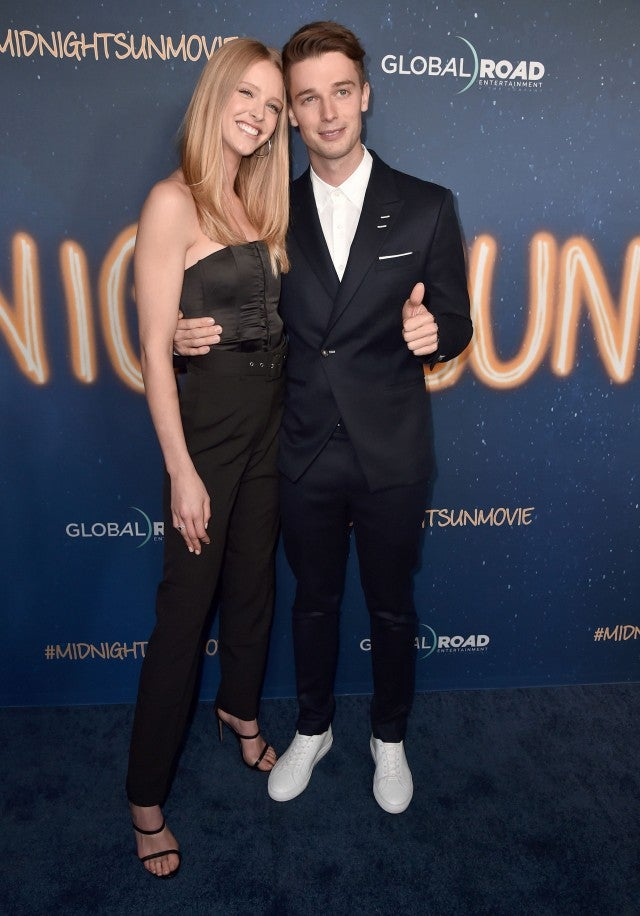 Patrick Schwarzenegger and Abby Champion at the 'Midnight Sun' premiere in Hollywood