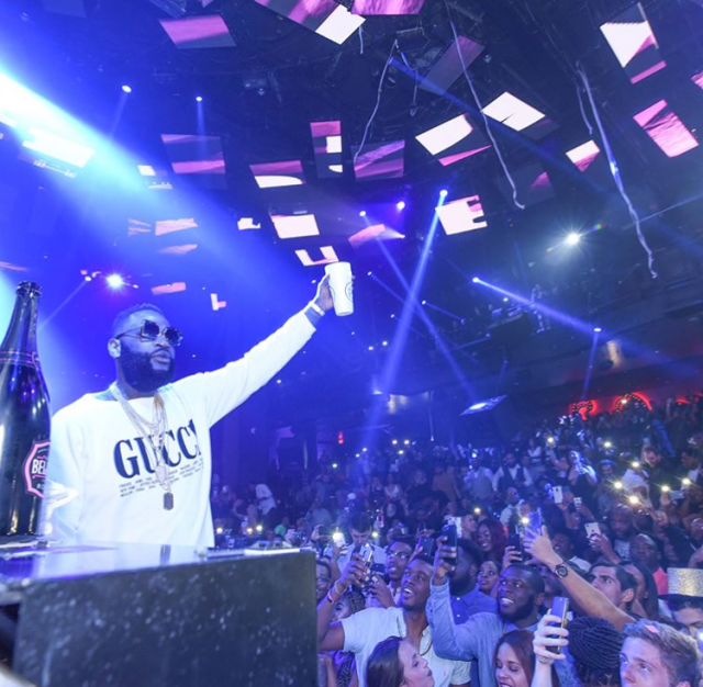Rick Ross in vegas after hospitalization