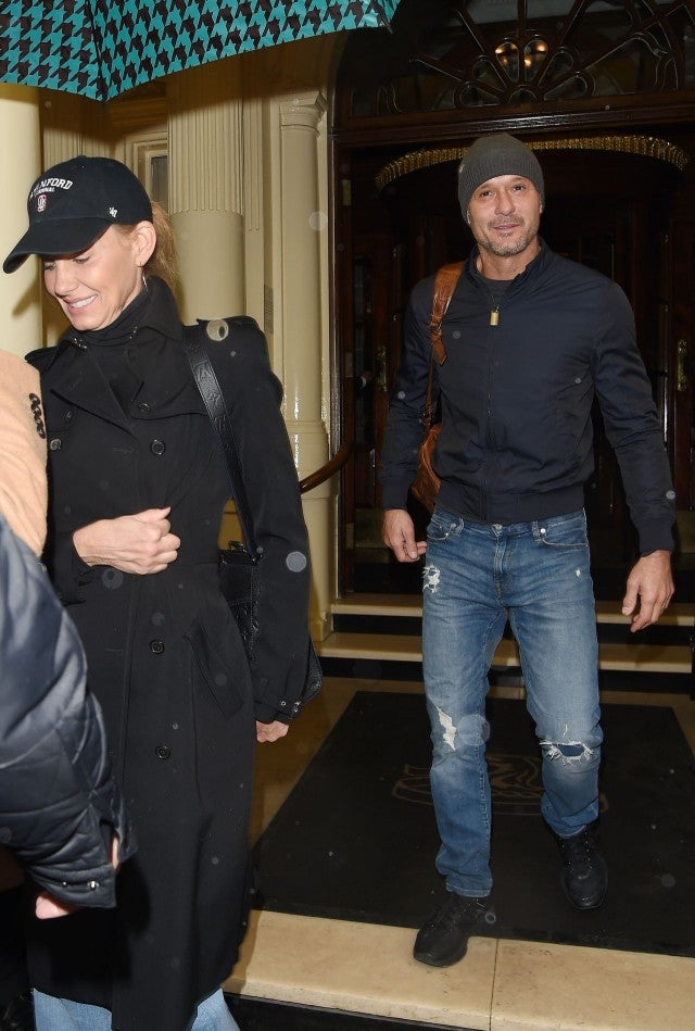 Tim Mcgraw All Smiles With Faith Hill In First Public