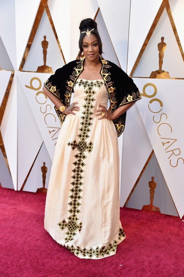 Tiffany Haddish Stuns In African Dress At Oscars In Honor