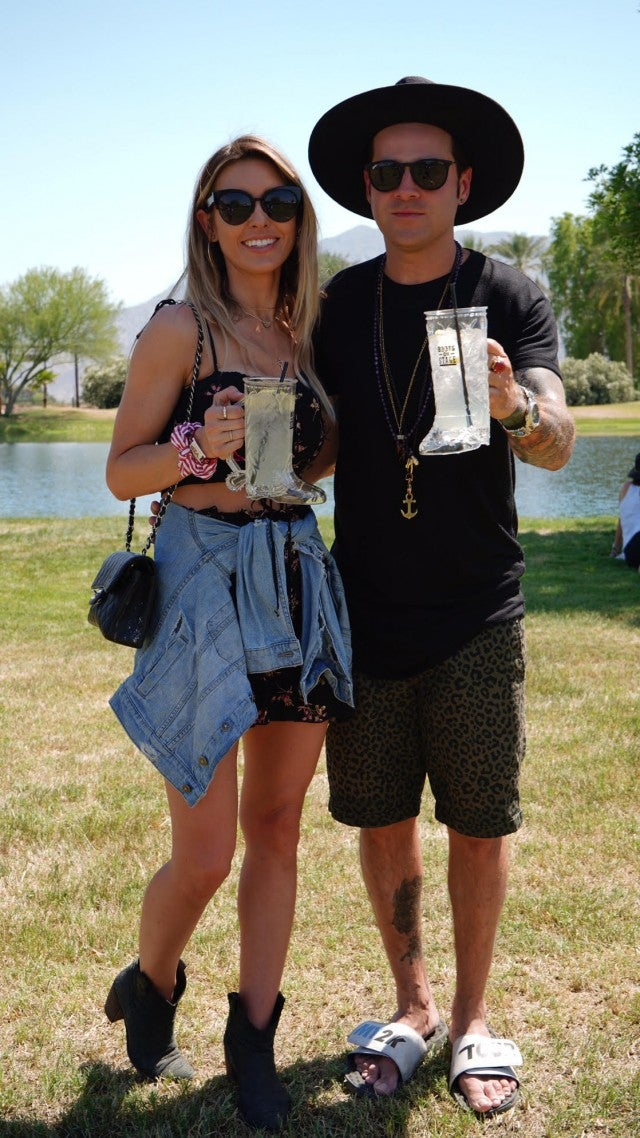 Audrina Patridge and Ryan Cabrera at Stagecoach