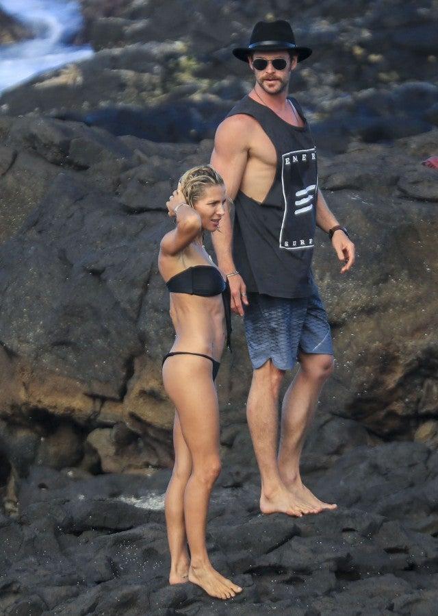 Elsa Pataky and Chris Hemsworth in Australia