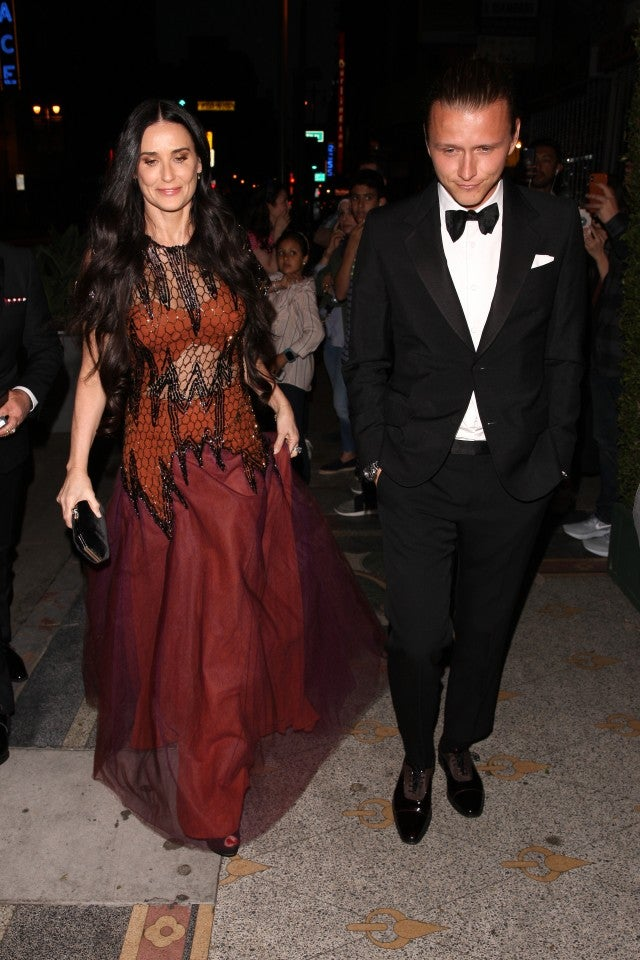 Demi Moore at engagement party