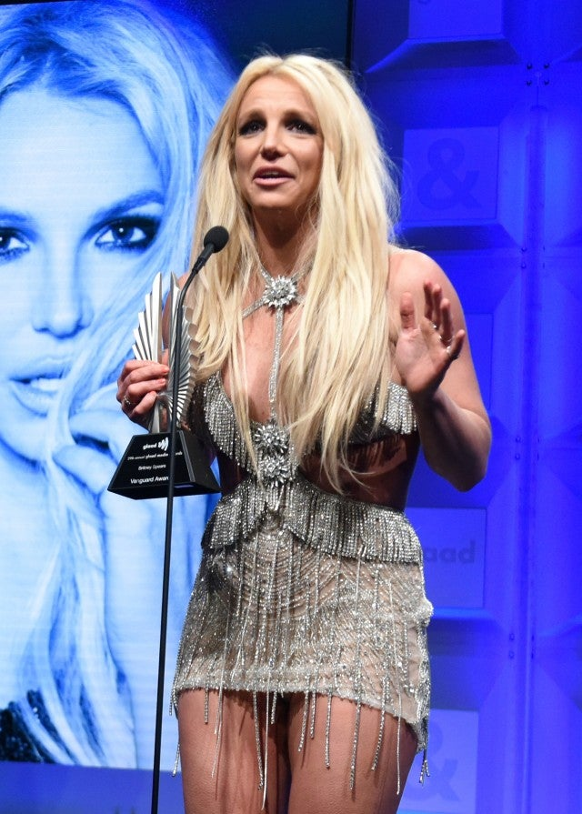 Britney Spears accepting Vanguard Award at the GLAAD Media Awards
