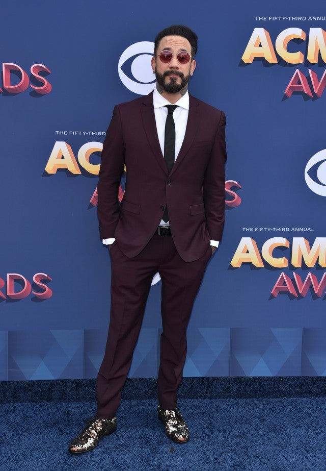 AJ Mclean at ACM Awards 2018