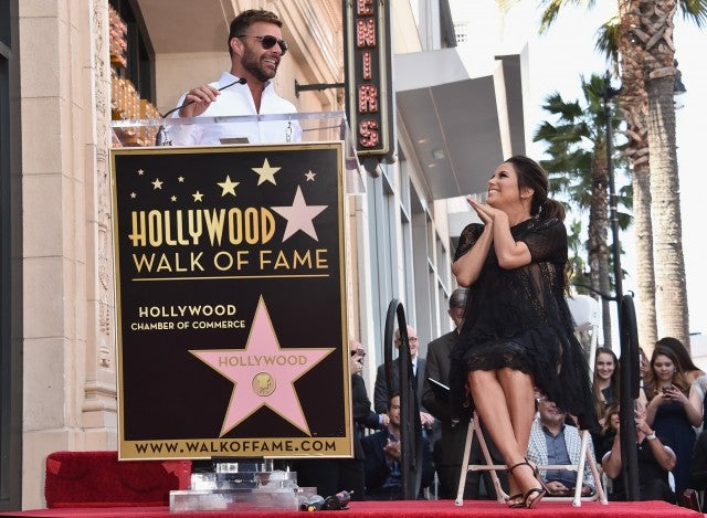 Actress Eva Longoria receives a star on Hollywood Walk of Fame