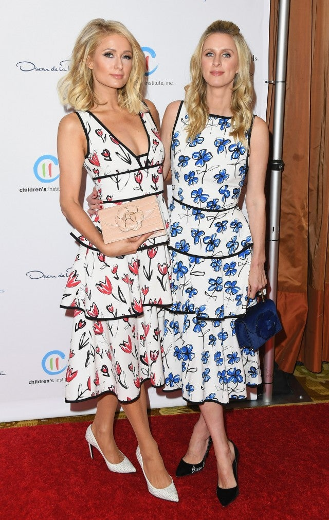 Paris Hilton and Nicky Hilton at Oscar de la Renta luncheon