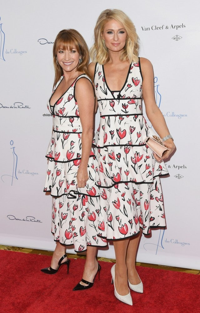 Paris Hilton and Jane Seymour at the Oscar de la Renta luncheon