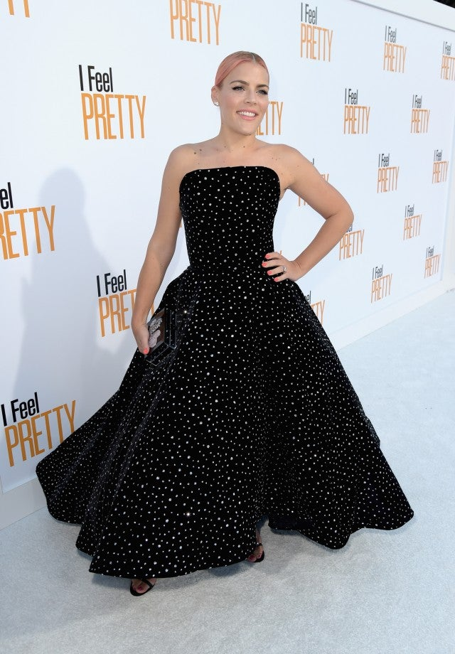 Busy Philipps at I Feel Pretty premiere