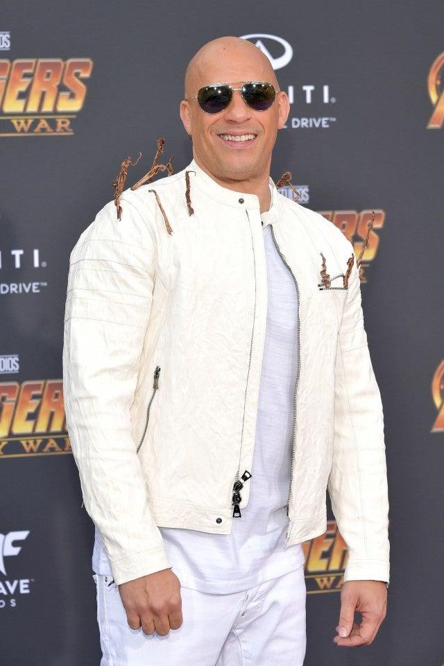 Vin Diesel Dressed As Groot At Avengers Infinity War