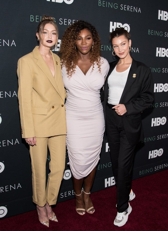Gigi Hadid, Serena Williams, and Bella Hadid