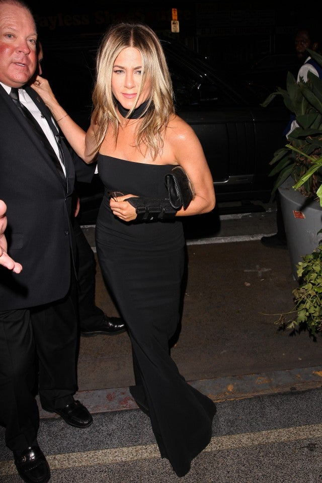 Jennifer Aniston at Gwyneth Paltrow's engagement party