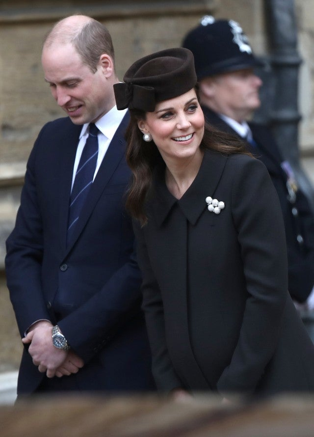 Pregnant Kate Middleton and Prince William Attend Easter Services With the Queen: Pics