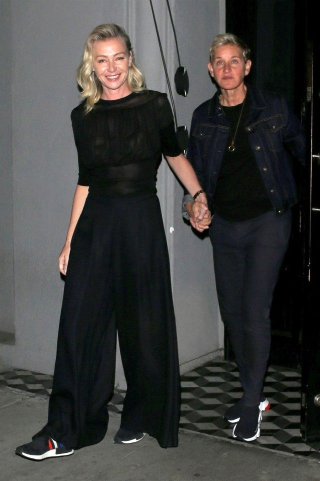Ellen DeGeneres and  Portia de Rossi enjoy a date night at Craig's restaurant in West Hollywood.